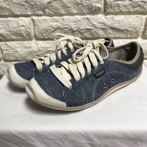 Dr. Scholl's Jennie Denim Chambray lace sneakers